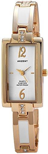 Damen Strass DesignGliederband Uhr vergoldet