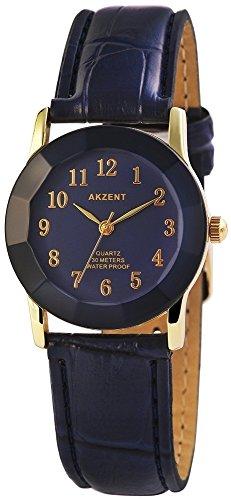 Armbanduhr Quarz Uhr Kunstlederarmband 22cm Dornschliesse SS7303000022