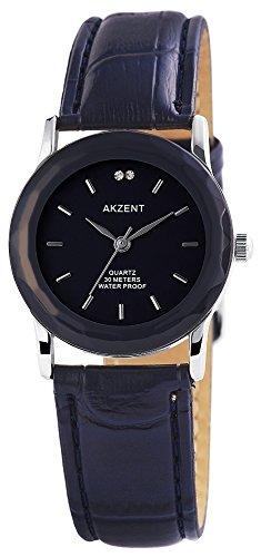 Damenuhr Armbanduhr Quarz Uhr Kunstlederarmband 22cm Dornschliesse SS7323000012