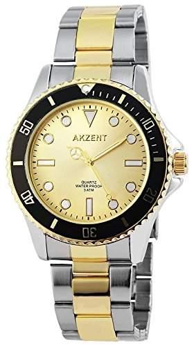 Akzent Herren-Armbanduhr XL Analog Quarz Edelstahl SS7024000018