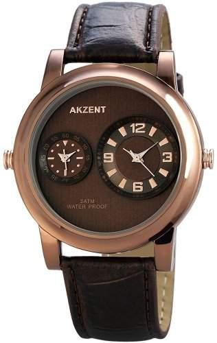 Akzent Herren-Armbanduhr XL Analog Quarz verschiedene Materialien SS7257000047