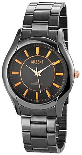 Akzent Herren-Armbanduhr XL Analog Quarz Edelstahl SS7471000050