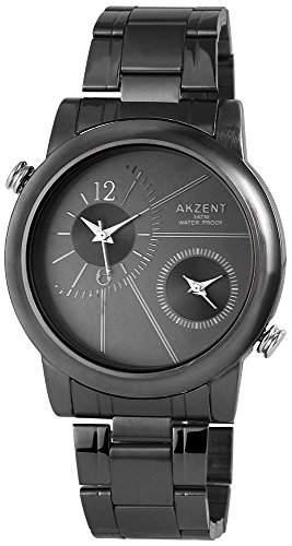 Akzent Herren-Armbanduhr XL Analog Quarz Edelstahl SS7471100030