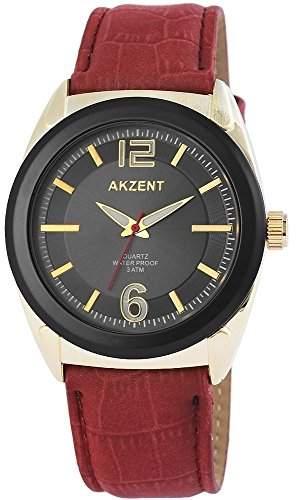Akzent Herren-Armbanduhr XL Analog Quarz verschiedene Materialien SS7505000009