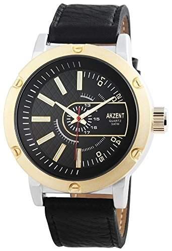 Akzent Herren-Armbanduhr Analog Quarz verschiedene Materialien SS7511000012