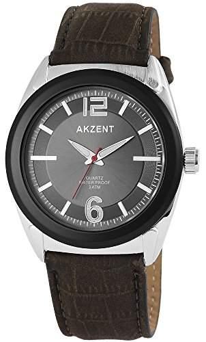 Akzent Herren-Armbanduhr XL Analog Quarz verschiedene Materialien SS7511500009