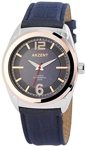 Akzent Herren-Armbanduhr XL Analog Quarz verschiedene Materialien SS7513100009