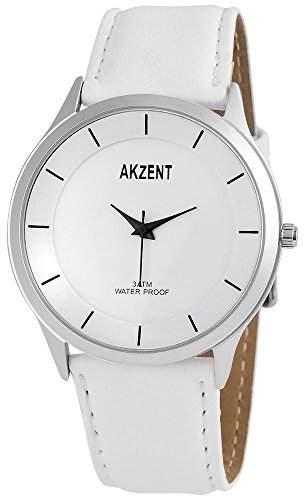 Akzent Herren-Armbanduhr XL Analog Quarz verschiedene Materialien SS7522500015