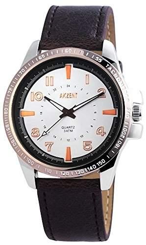 Akzent Herren-Armbanduhr Analog Quarz verschiedene Materialien SS7522600010