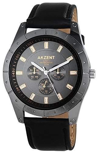 Akzent Herren-Armbanduhr XL Analog Quarz verschiedene Materialien SS7571500008