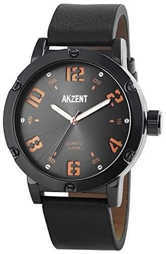 Akzent Herren-Armbanduhr Analog Quarz verschiedene Materialien SS7571700014