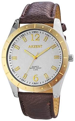 Akzent Herren-Armbanduhr XL Analog Quarz verschiedene Materialien SS7711100023