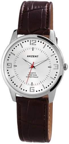 Akzent Herren-Armbanduhr XL Analog Quarz verschiedene Materialien ss7722600016