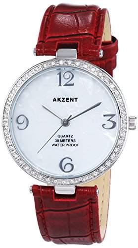 Akzent Damen-Armbanduhr Analog Quarz verschiedene Materialien ss8002100010