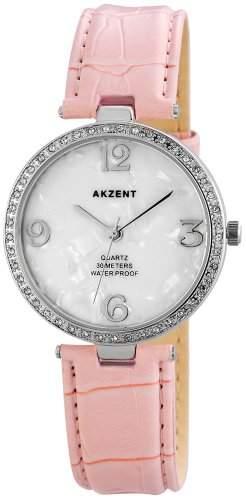 Akzent Damen-Armbanduhr Analog Quarz verschiedene Materialien ss8022200010