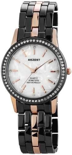 Akzent Damen-Armbanduhr Analog Quarz verschiedene Materialien ss8112000005