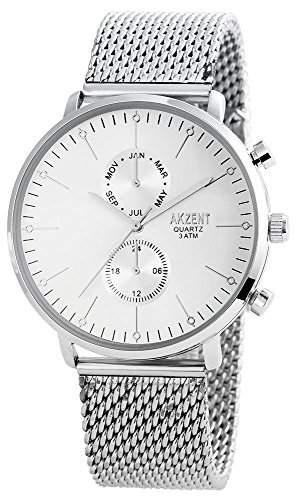 Akzent Herren-Armbanduhr Analog Quarz verschiedene Materialien SS8822500012