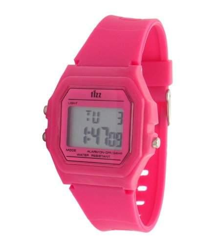 Fizz-5040552-Armbanduhr-Quarz Digital-Zifferblatt LCD-Armband Kunstharz rot