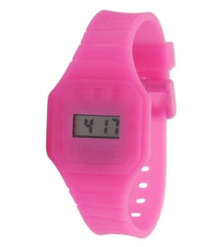 Fizz-5040852-Armbanduhr-Quarz Digital-Zifferblatt LCD-Armband Kunstharz rosa
