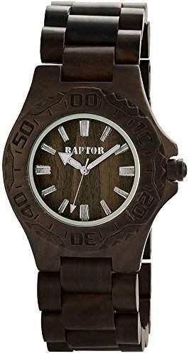 Raptor Analog Unisex Armband Uhr, Holz, Ø 42 mm Dunkelbraun - 298191000005
