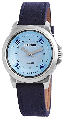 Raptor Analog Damenuhr Leder 38 mm Dunkelblau 197823000026