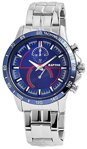 Raptor Analog Herrenuhr Metall 44 mm Blau 285923000026