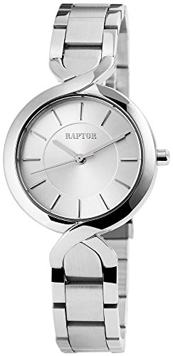 Raptor Analog Damen Armbanduhr Armband Zifferblatt in silber Quartzwerk 197622500035 Farbe3