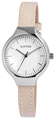 Raptor Damen Armbanduhr mit Lederarmband in beige 31 mm 197822600020
