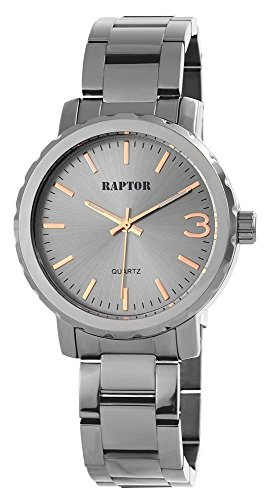 Raptor Damenuhr Metall Armanduhr 40mm Anthrazit 197571500005