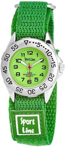 Sportline Damen-Armbanduhr XS Analog Quarz Textil 120026100001