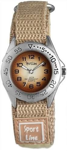 Sportline Damen-Armbanduhr XS Analog Quarz Textil 120027100001