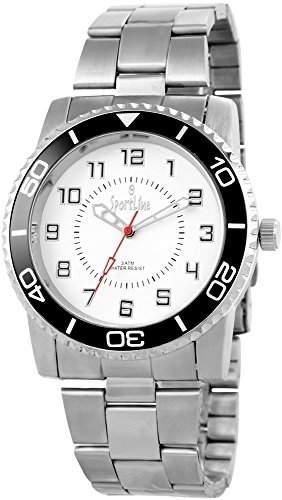 Sportline Herren-Armbanduhr XL Analog Quarz verschiedene Materialien 284322000010