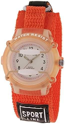 Sportline Kinderuhr mit Textilklettband Weiss Armbanduhr Uhr 440005800001