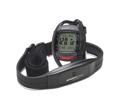 Sportline 660 Mens Cardio Heart Rate Armbanduhr - Schwarz