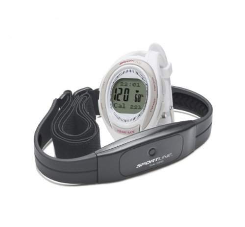 Sportline 660 Womens Cardio Heart Rate Armbanduhr - Weiss