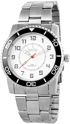 Sportline Herren Armbanduhr XL Analog Quarz verschiedene Materialien 284322500010