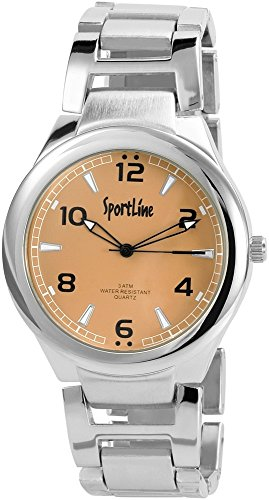 Sportline Herren Armbanduhr XL Analog Quarz verschiedene Materialien 284327100006