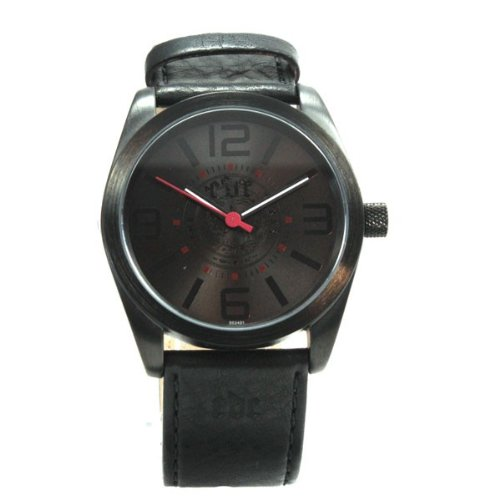EDC by Esprit Herrenuhr Lonely Rider Midnight Black Black Gun color Lederband Uhr