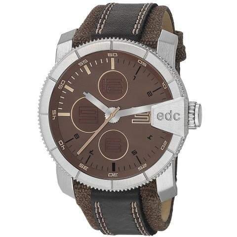 Esprit EE100791003 edc Herrenuhr rock climber tabacco brown braun Lederarmband 30m Analog Uhr