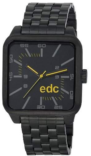 Esprit Edc EDGY MACHO - MIDNIGHT BLACK Herrenuhr Edelstahl Schwarz Edelstahlband Schwarz Analog EE100801004