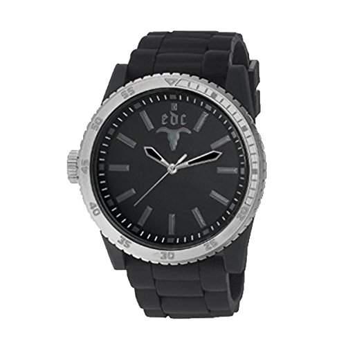 Esprit EE100831002 edc Herrenuhr rubber star midnight black silver schwarz Silikon 30m Analog Uhr