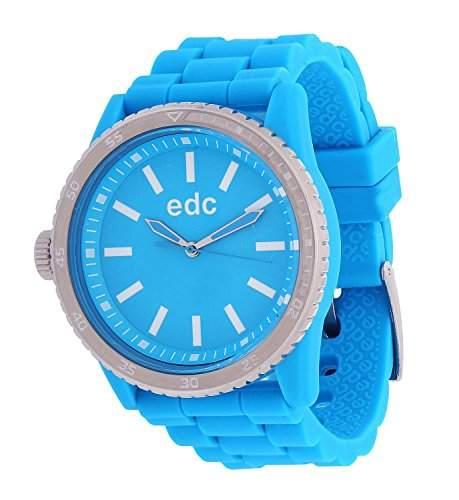 Esprit EE100922007 edc Damenuhr rubber starlet cool turquoise tuerkis Silikon 30m Analog Uhr