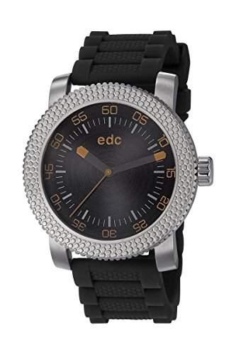 Esprit Edc HEAVY ROCKER - MIDNIGHT BLACK Herrenuhr Edelstahl Silber Kunststoffband Schwarz Analog EE101081002