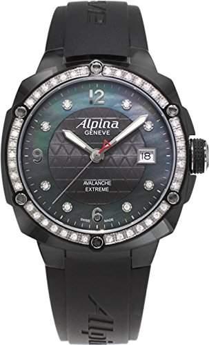 Alpina Geneve Avalance Extreme Ceramic AL-240MPBD3FBAEDC6 Damenarmbanduhr mit echten Diamanten