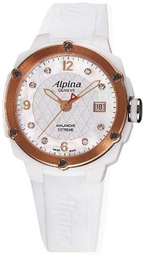 Alpina Geneve Avalance Extreme Ceramic AL-240MPWD3AEC4 Sportliche Damenuhr mit echten Diamanten