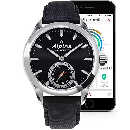 Alpina Horological Smartwatch Herrenuhr AL-285BS5AQ6
