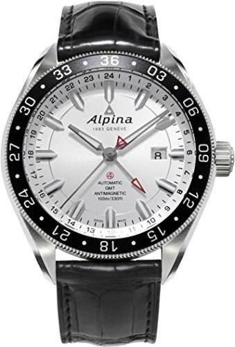 Alpina Geneve Alpiner GMT 4 AL-550S5AQ6 Herren Automatikuhr 2 Zeitzone