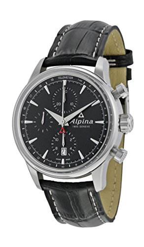 Alpina Alpiner Chronograph Automatic Stainless Steel Mens Strap Watch Calendar AL 750B4E6