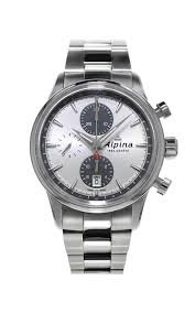 Alpina Alpina Alpiner Chronograph Automatisch Silber Zifferblatt Stahl Mens Watch AL 750SG4E6B