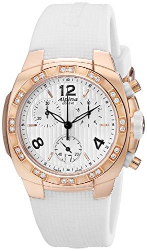 Alpina Avalanche Damen Diamanten 36mm Chronograph Saphirglas Uhr AL350LWWW2AD4